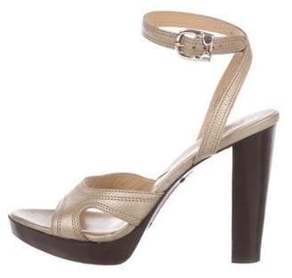 Michael Kors Metallic Leather Sandals