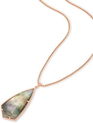 Kendra Scott Carole Long Pendant Necklace in Rose Gold