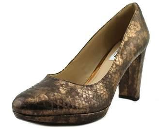 Clarks Womens Kendra Sienna Leather Closed Toe Platform