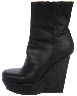 Acne Studios Suede Wedge Booties
