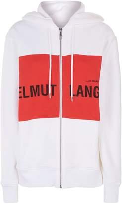 Helmut Lang Zipped Logo Panel Hoodie