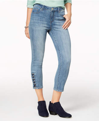 Style&Co. Style & Co Lace-Up Capri Jeans, Created for Macy's