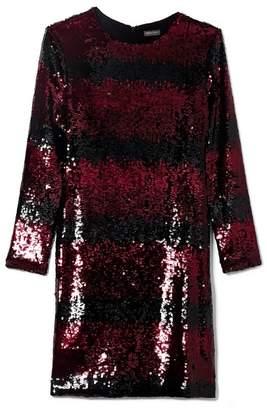 Vince Camuto Ombré-striped Sequin Dress
