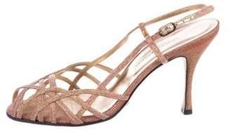 Dolce & Gabbana Two-Tone Metallic Sandals