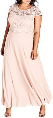 City Chic Elegance Maxi Dress Set