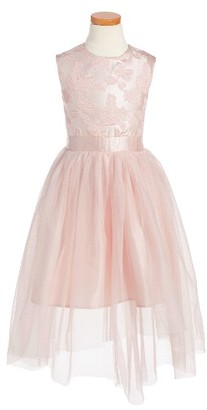Toddler Girl's Ruby & Bloom Brodcade Fit & Flare Dress $69 thestylecure.com
