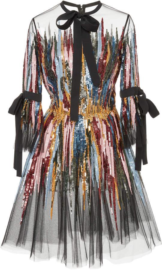 Elie Saab Short Embroidered Dress