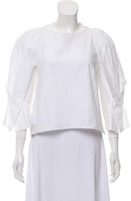 DELPOZO Bow-Accented Long Sleeve Top w/ Tags