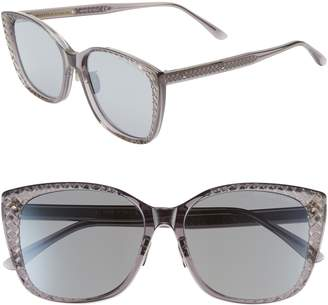 Bottega Veneta 56mm Cat Eye Sunglasses