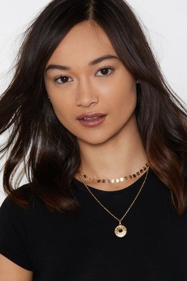 Nasty Gal Count Those Coins Layered Necklace