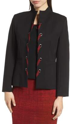 Ming Wang Whipstitch Long Sleeve Jacket