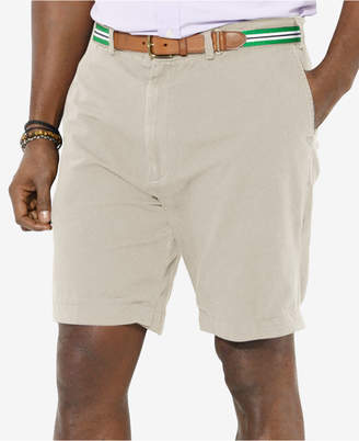 """Polo Ralph Lauren Men's Big and Tall 9"""" Classic-Fit Flat-Front Suffield Shorts $85 thestylecure.com"""