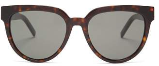 Saint Laurent Round Frame Acetate Sunglasses - Womens - Tortoiseshell