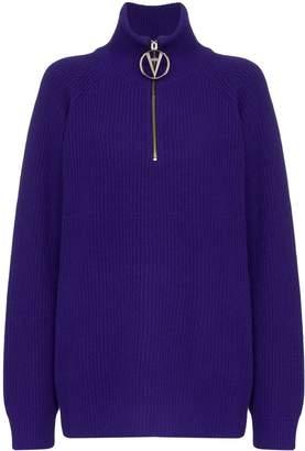 Filles a papa half-zip ribbed sweater