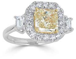 ZYDO Limoncello 18k Gold & Yellow Diamond Ring, Light Yellow, Size 6.75