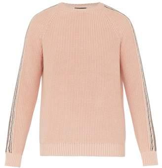 Alanui Navajo Cotton Blend Sweater - Mens - Pink