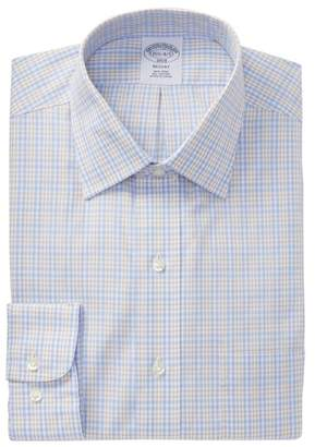 Brooks Brothers Plaid Regent Modern Trim Fit Dress Shirt