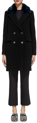 Whistles Erika Faux Fur-Collar Coat $570 thestylecure.com