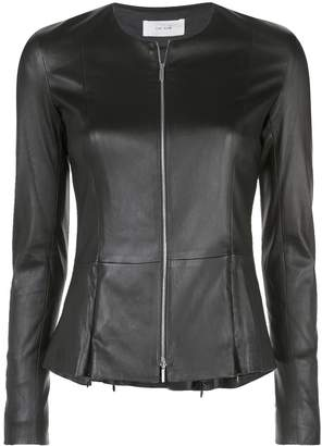 The Row short leather jacket