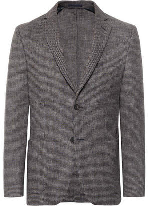 Officine Generale Grey Houndstooth Wool Blazer