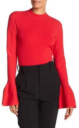 Diane von Furstenberg Flutter Sleeve Turtleneck Pullover