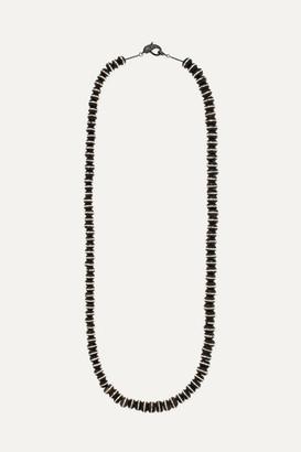 Loree Rodkin Oxidized Sterling Silver Diamond Necklace