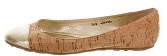 Jimmy Choo Cork Cap-Toe Flats