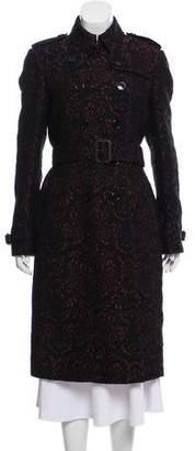 Burberry Leather Trimmed Matelassé Coat