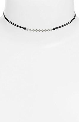Women's Jules Smith 'Tulum' Crystal Bar Pendant Choker $55 thestylecure.com