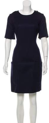 Burberry Wool Short Sleeve Knee-Length Dress