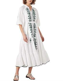 Tigerlily Villaya Linen Maxi Dress