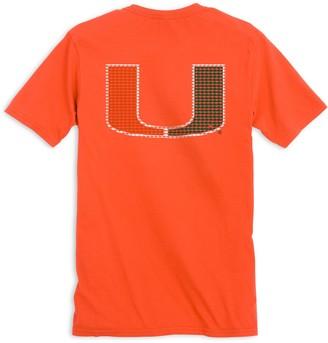 Southern Tide Skipjack Fill T-Shirt - University of Miami