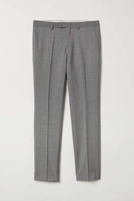 H&M Suit Pants Slim fit - Gray