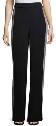 St. John Drapey Side-Stripe Pants