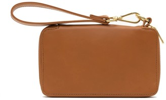 Holly & Tanager Champion Zip Around Leather Wallet In Caramel