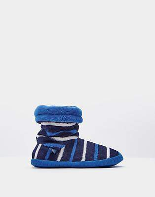 Pad About Boys Fleece Lining Fluffy Slippersocks in French Navy Stripe