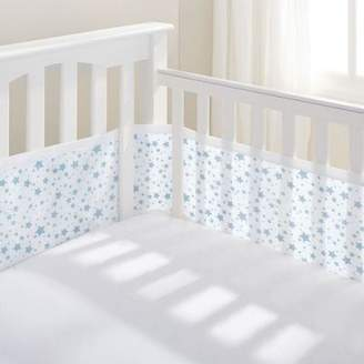 BreathableBaby 4-Sided Cot Liner - Twinkle Twinkle (Pink Stars)