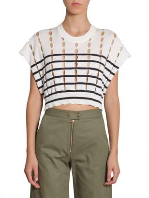 Alexander Wang Cotton Pullover With Slits