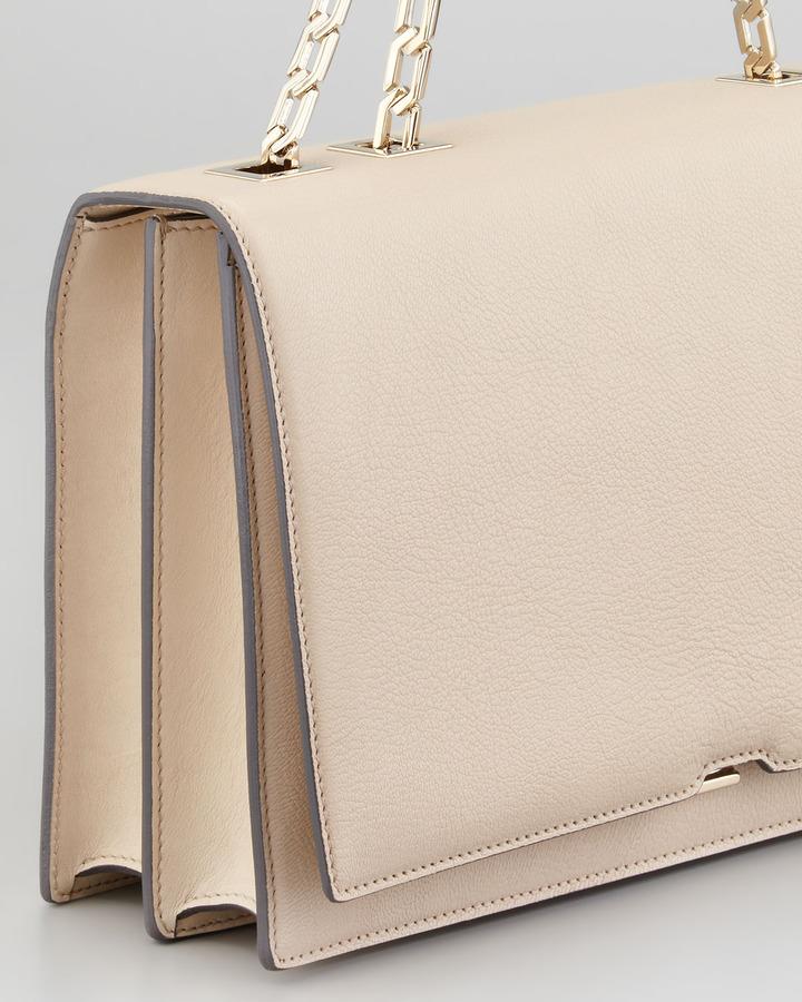 Victoria Beckham Hexagonal Chain Shoulder Bag, Powder