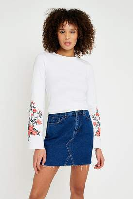 Pins & Needles Floral Embroidered Flute Sleeve Top
