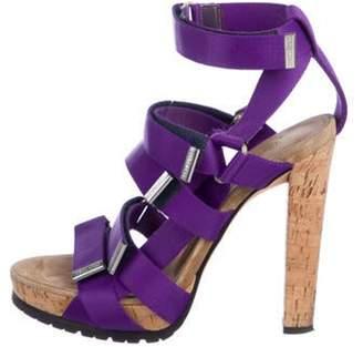 DsquaredÂ2 Canvas Velcro Strap Sandals Purple DsquaredÂ2 Canvas Velcro Strap Sandals
