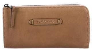 Longchamp Leather Continental Wallet