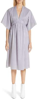 ADAM by Adam Lippes Stripe Cotton Jacquard Dress