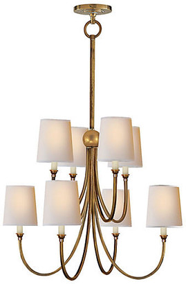 Thomas O'Brien For Visual Comfort Reed Two-Tier Chandelier - Antiqued Brass