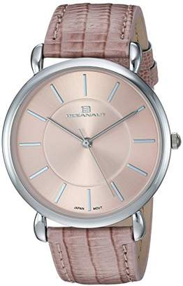 Oceanaut Women's 'Alma' Quartz Stainless Steel and Leather Casual Watch