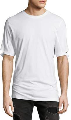 Helmut Lang Standard-Fit Cut-Sleeve T-Shirt