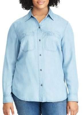 Chaps Plus Chambray Button-Down Shirt
