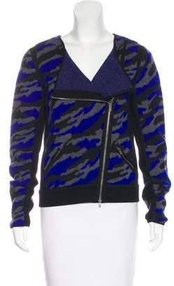 Diane von Furstenberg Wool Zip-Up Cardigan