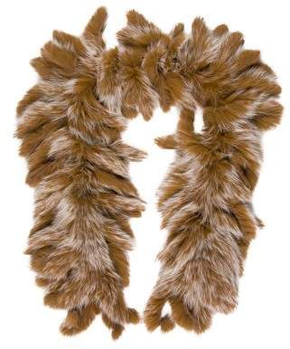Fur Fox Fringe Stole