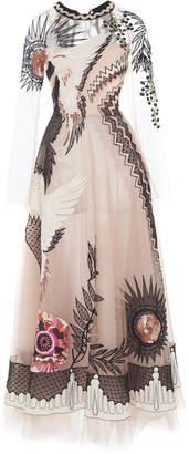 Temperley London Opera Sheer-Sleeve Tulle Dress